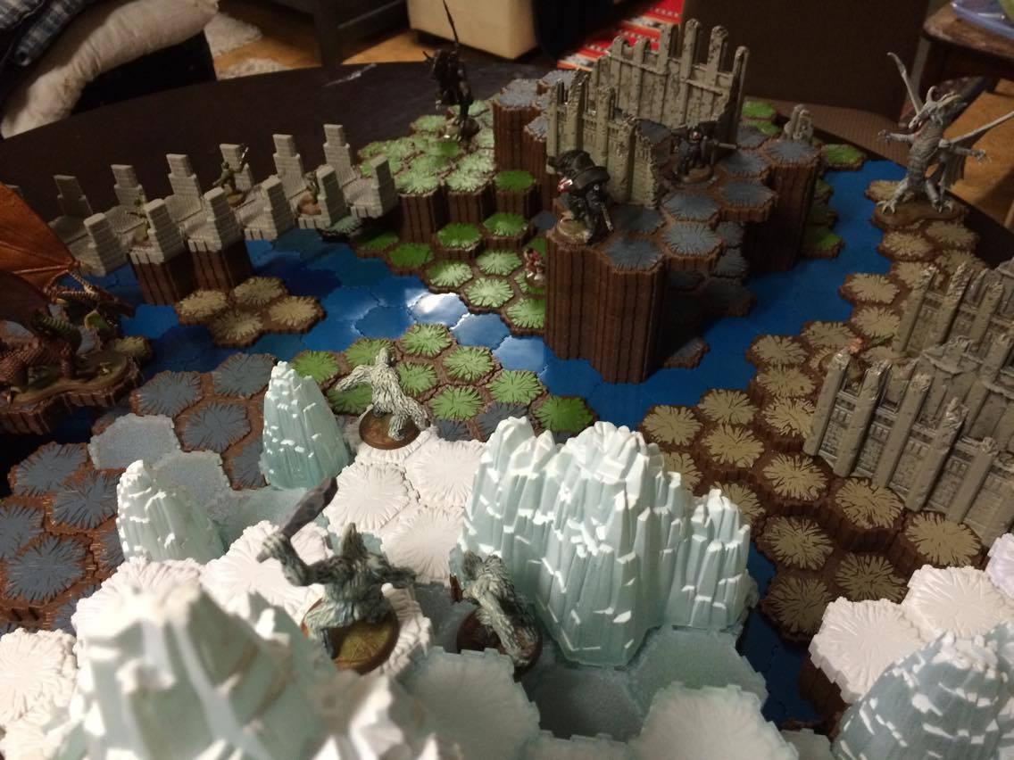 Heroscape BF1 View from ice mountain